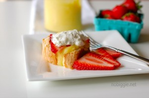lemon curd with angel food cake