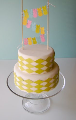 The Paper Peeps Cake