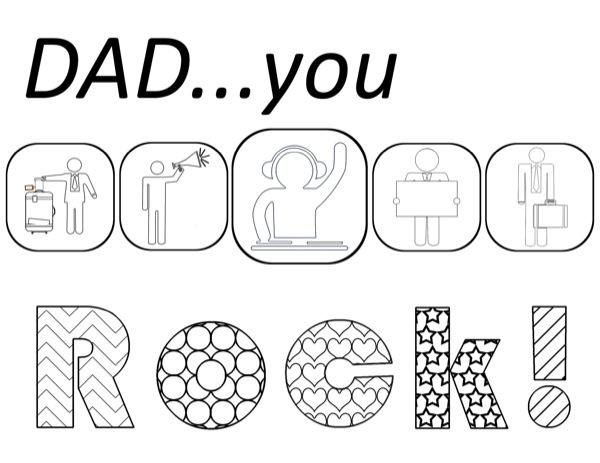 father's day coloring pages - Birthday Coloring Pages Daddy