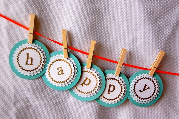 DIY Birthday Banner with PSA Stamps