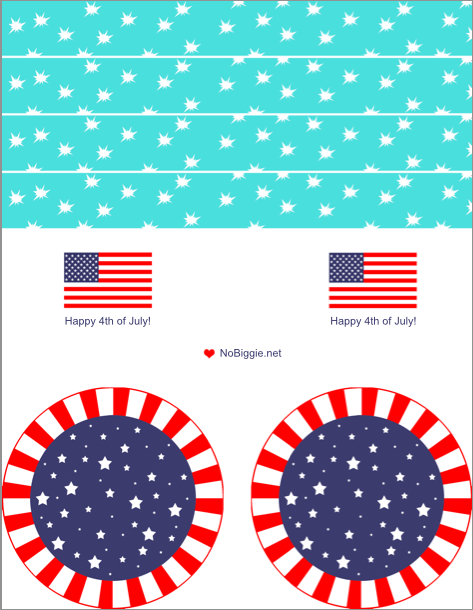 4th of July free printables | NoBiggie.net