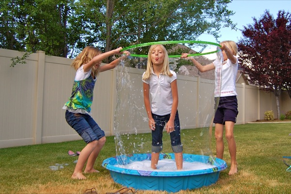 DIY kiddie pool bubble - NoBiggie.net