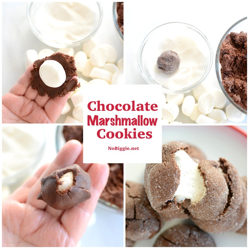 Chocolate Marshmallow Cookies recipe | NoBiggie.net