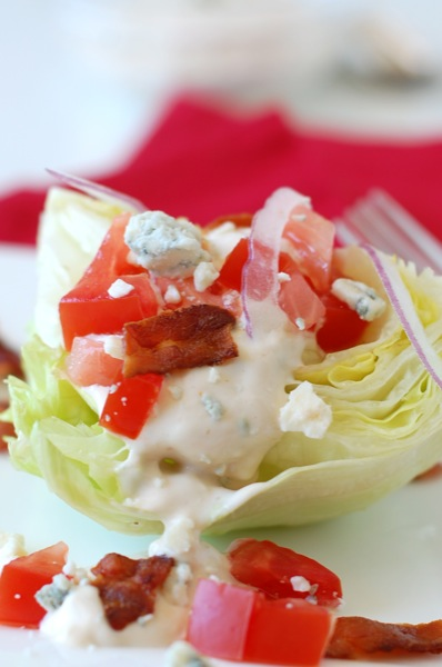 wedge salad with the best blue cheese dressing | NoBiggie.net