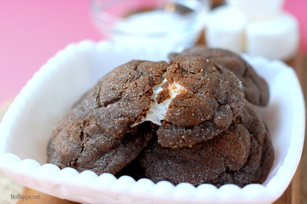 chocolate marshmallow cookies | NoBiggie.net
