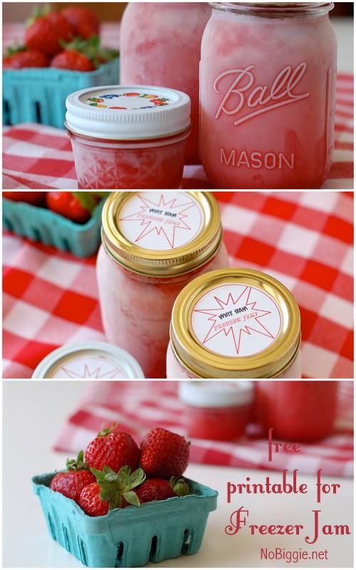 freezer jam - free printable | NoBiggie.net