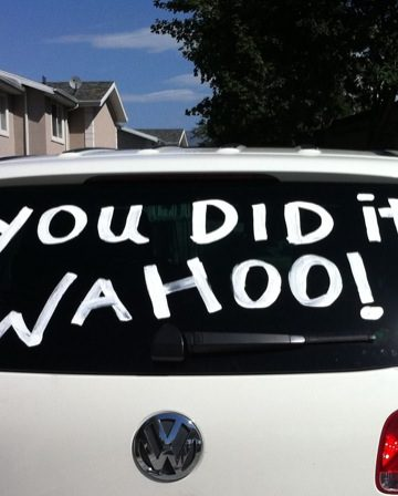 You can use acrylic paint to write on car windows