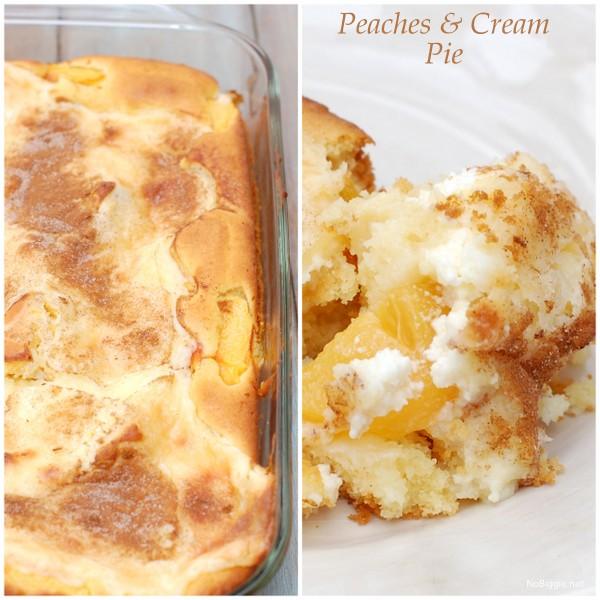 Peaches and Cream Pie recipe   NoBiggie.net