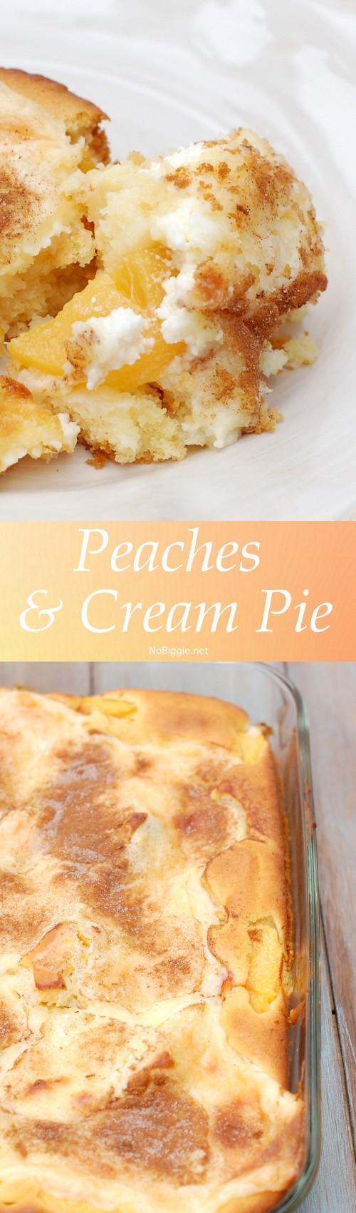 peaches and cream pie   NoBiggie.net