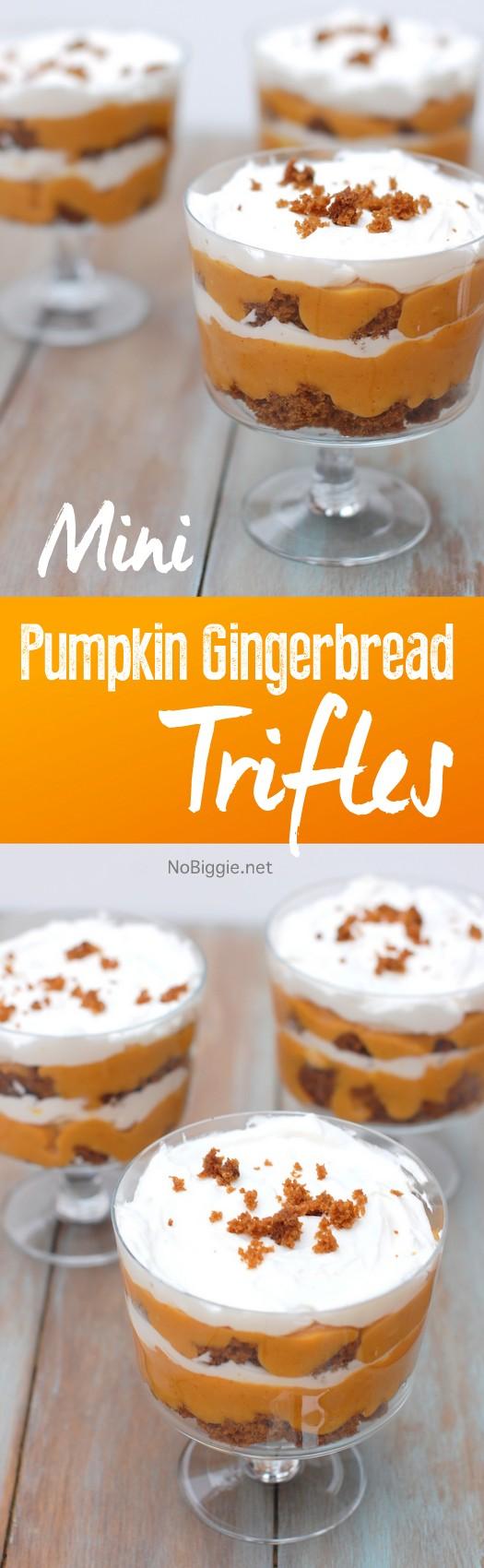 pumpkin gingerbread mini trifles | NoBiggie.net