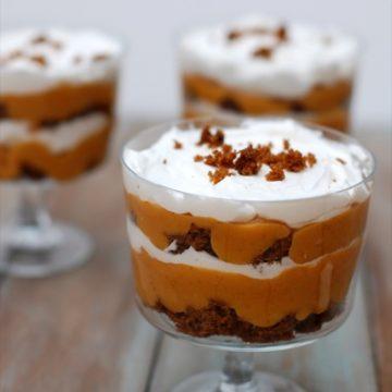 mini pumpkin gingerbread trifles | NoBiggie.net