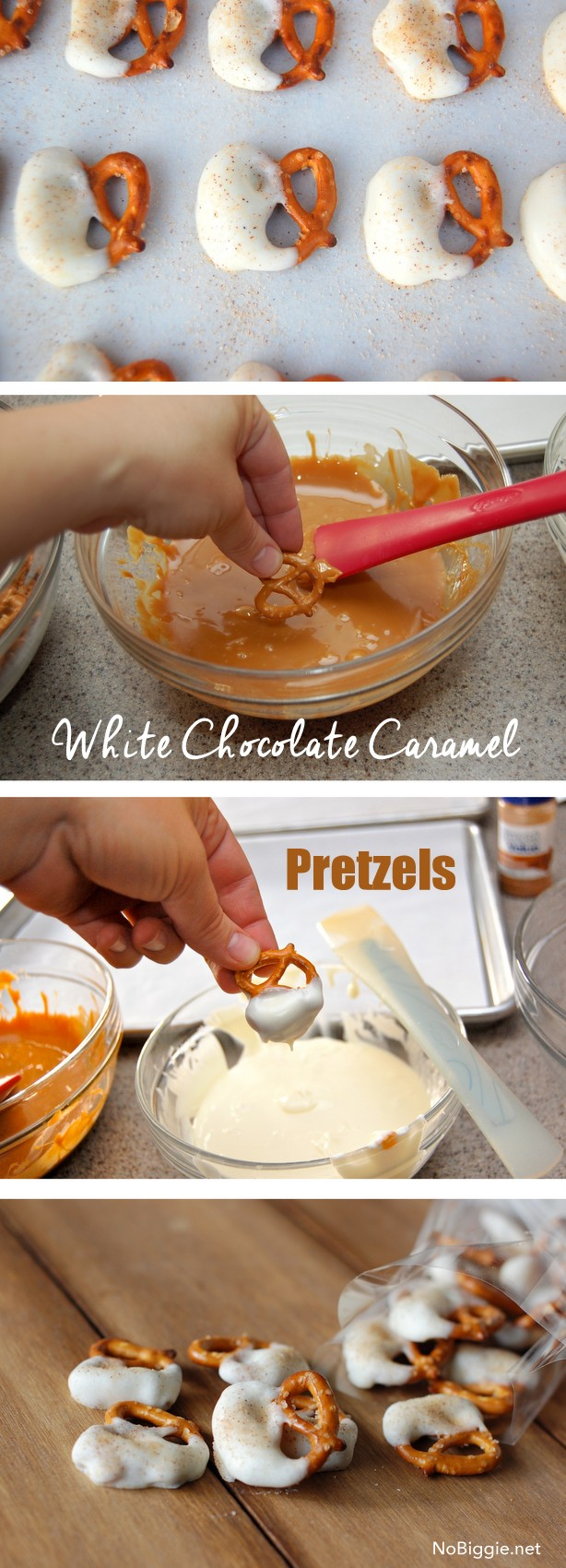 how to make caramel white chocolate pretzels | NoBiggie.net