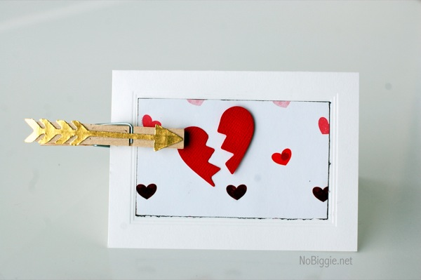Valentine's Day broken heart card