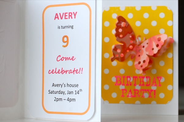 butterfly party invitations inside