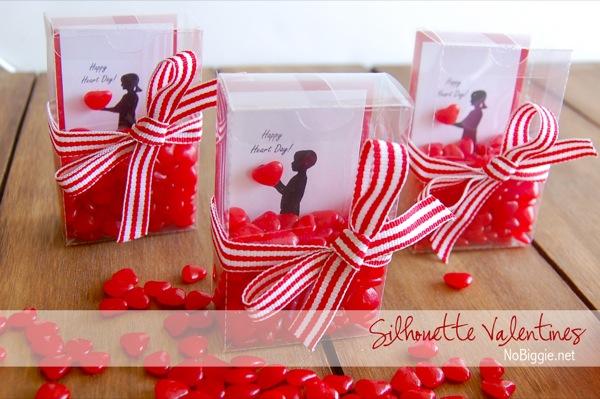 DIY Silhouette Valentines Via NoBiggie.net