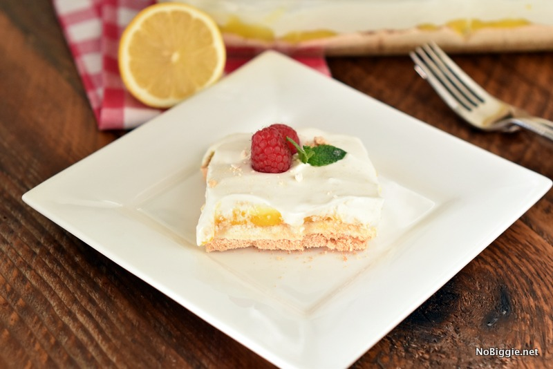 Upside Down Lemon Meringue Dessert | NoBiggie.net