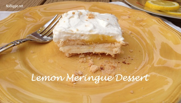 Lemon Meringue Dessert NoBiggie.net #recipe