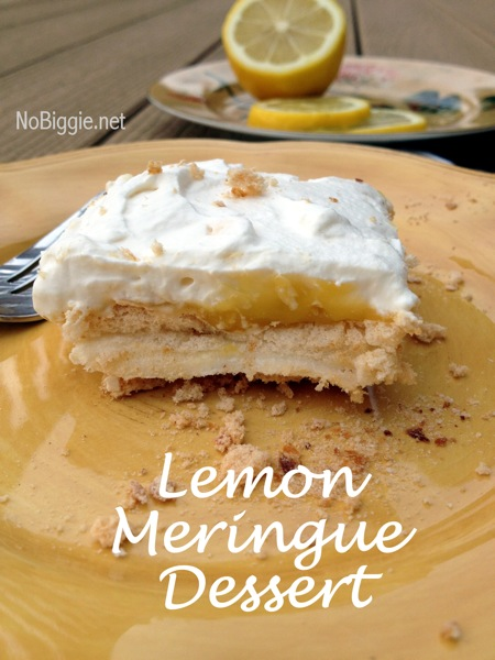 Upside Down Lemon Meringue Dessert | NoBiggie.net