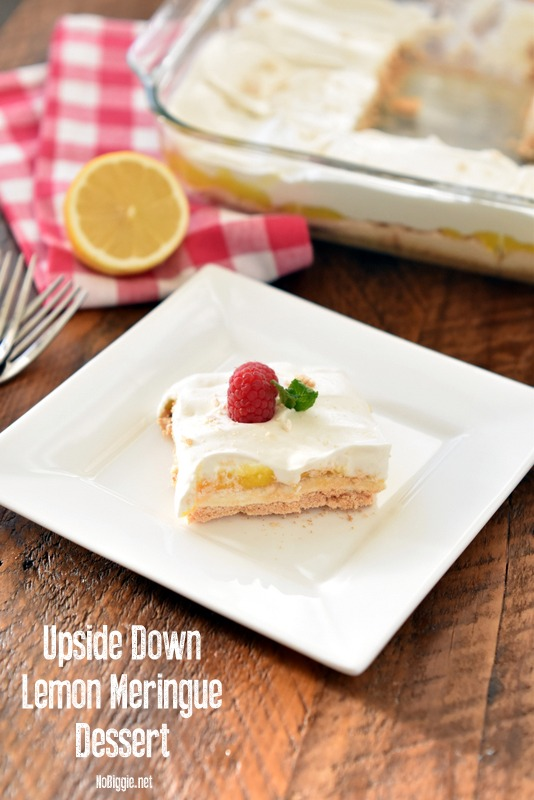 Upside Down Lemon Meringue