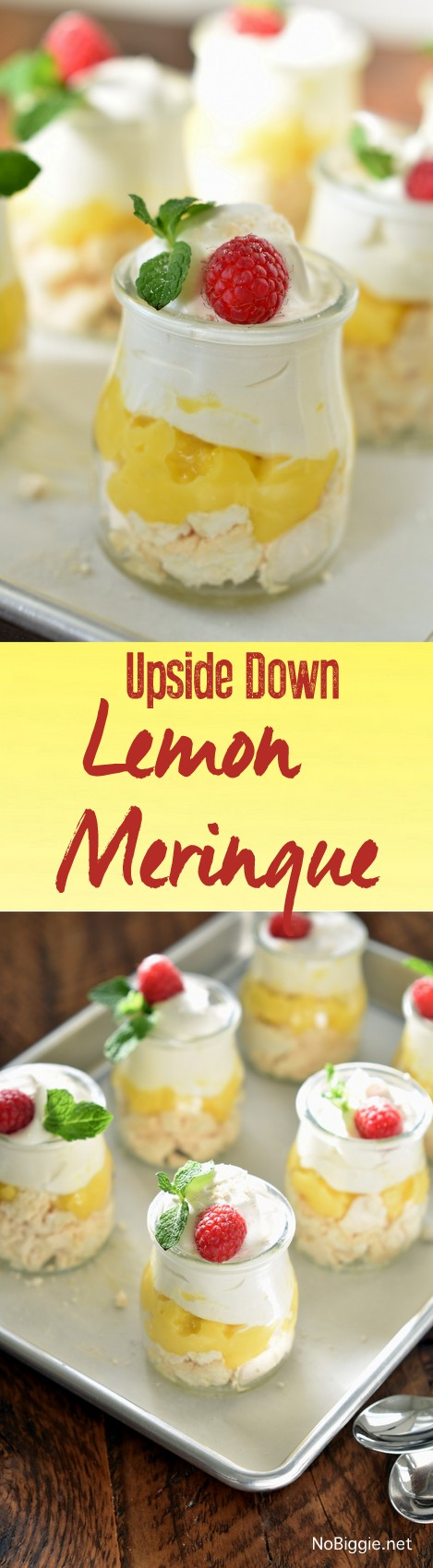 Upside Down Lemon Meringue Cups | NoBiggie.net