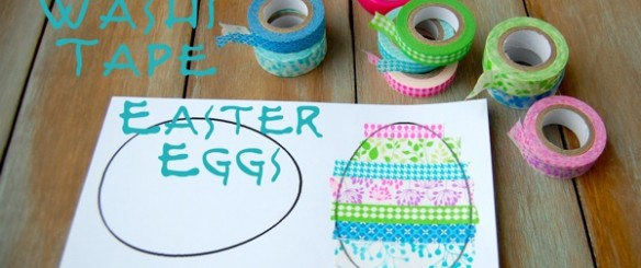 Washi Tape Easter crafts 1