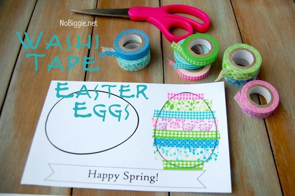 Washi Tape Easter crafts - NoBiggie.net
