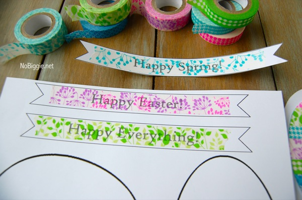 Washi Tape Easter crafts -NoBiggie.net