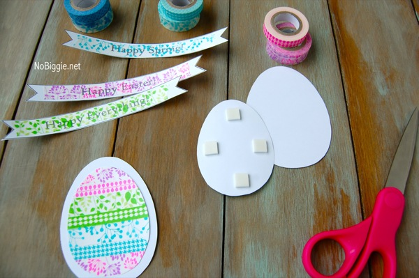 Washi Tape Easter crafts - NoBiggie.net