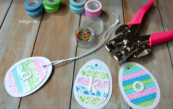 Washi tape easter crafts free printable for Crafts with washi tape