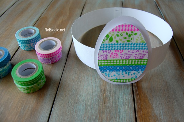 Washi Tape Easter crafts NoBiggie.net