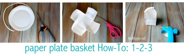 paper plate basket How To & Washi Tape Easter Crafts (free printable)