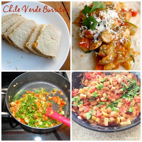 How to make Chile Verde Burritos | NoBiggie.net
