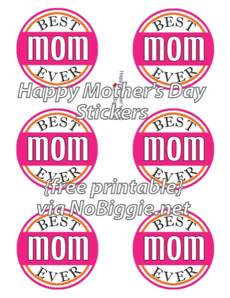 Mother's Day cupcake toppers (free)   NoBiggie.net