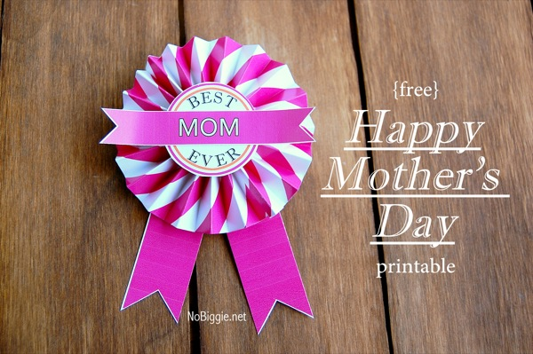 Mothers Day free printable | NoBiggie.net
