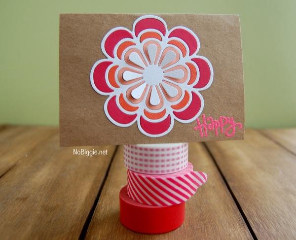 handmade floral card | NoBiggie.net