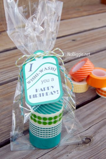 Washi Tape Gift Tags (free printable)