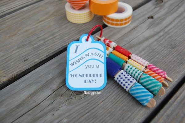 washi tape party tag