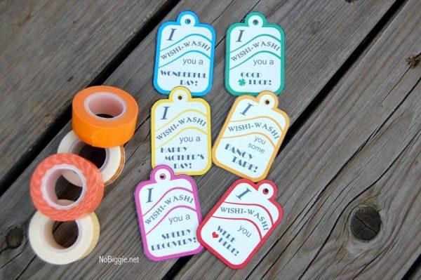 washi tape printable tags