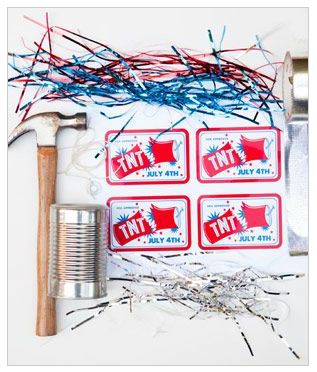 DIY firecracker decoration