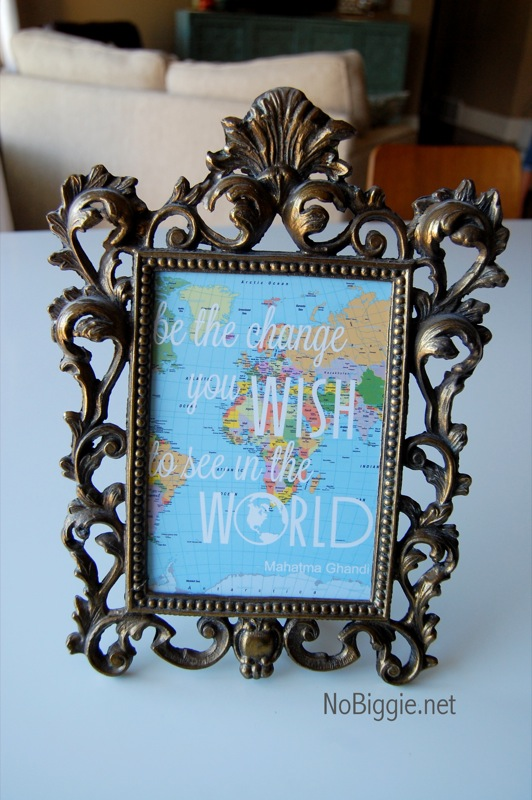 Be the change you wish to see in the world | DIY quote globe with cut file | NoBiggie.net