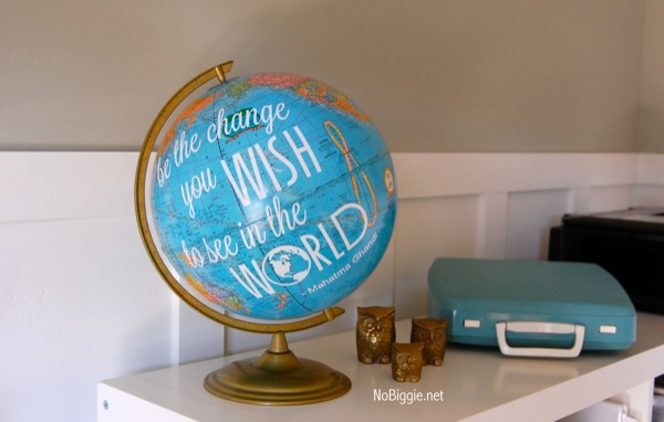 Be the change you wish to see in the world | DIY quote globe with silhouette file | NoBiggie.net