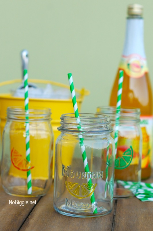 Citrus drinking glasses 1