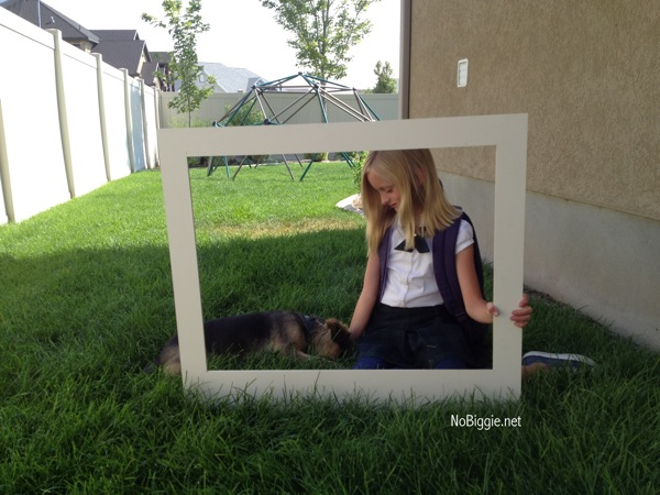 Make your own giant polaroid frame for How to make a large picture frame
