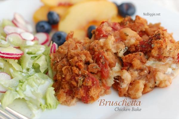 bruschetta chicken bake NoBiggie.net