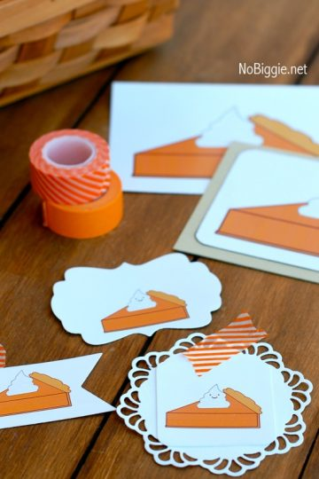 Pumpkin Pie Printable
