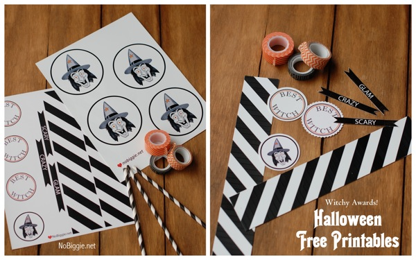 free Halloween witch printable via NoBiggie.net