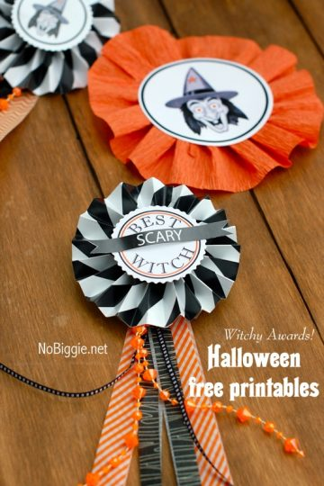 Halloween Costume Awards free Halloween printable