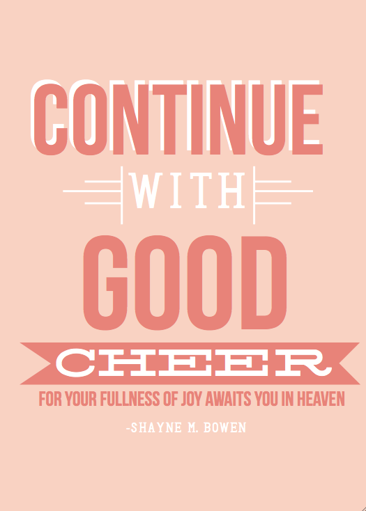 Be of good cheer (free printable) NoBiggie.net