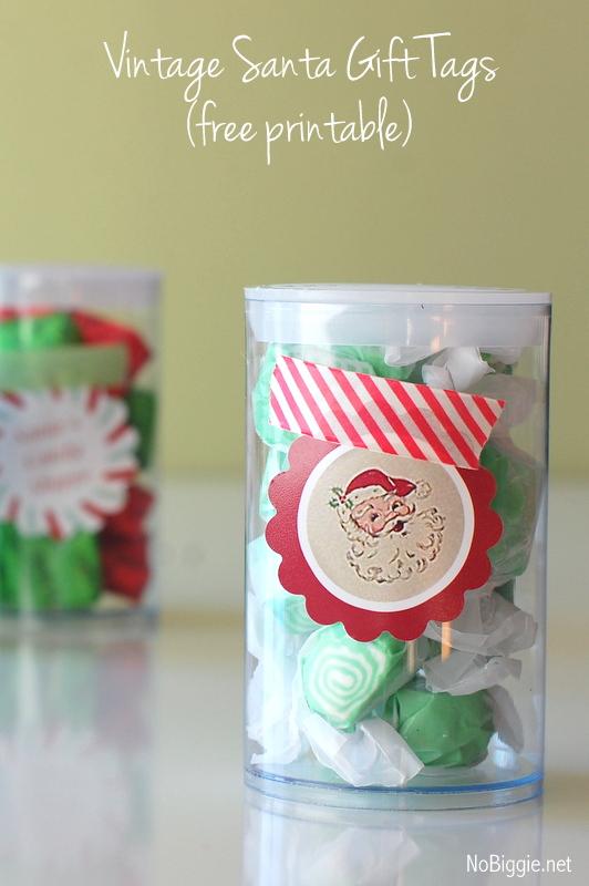 Vintage Santa Gift Tags Free Printable | NoBiggie.net