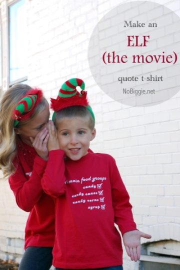 Elf (The Movie) inspired DIY T-Shirt